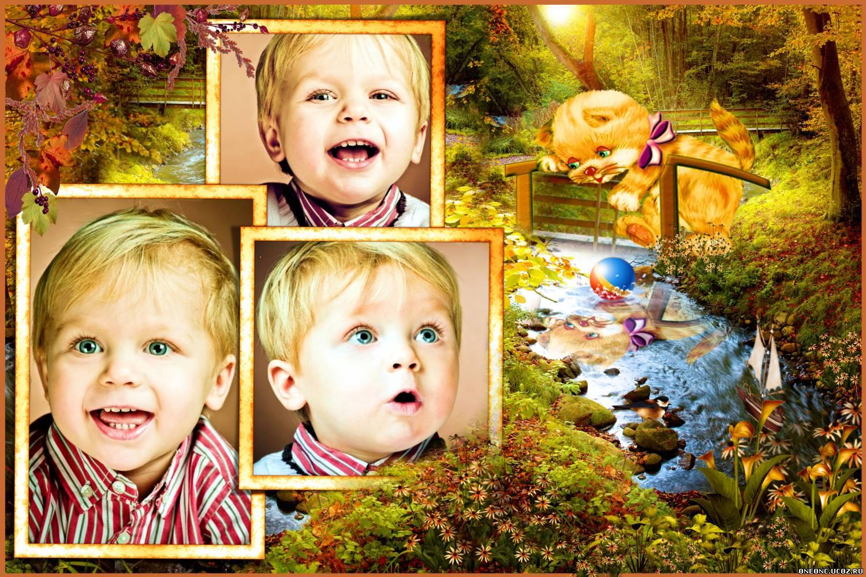 Фотоэффекты на фото для детей
